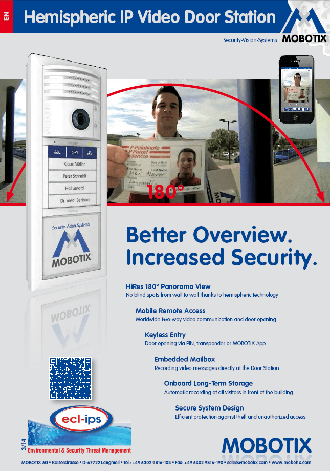 Mobotix T25 Door Station Brochure