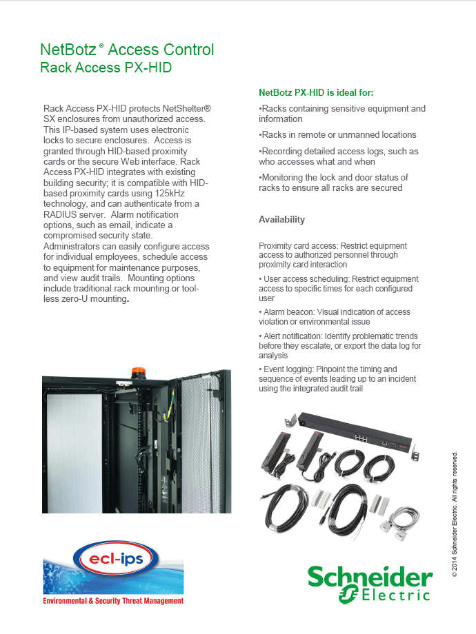 NetBotz Access Control Brochure