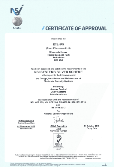 NSI Certificate