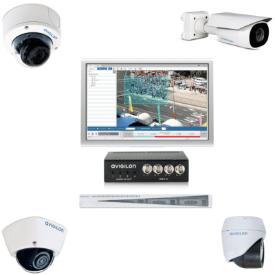 Collection of cameras and CCTV monitoring equipment