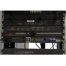 The Netbotz 250 mounted on a rack