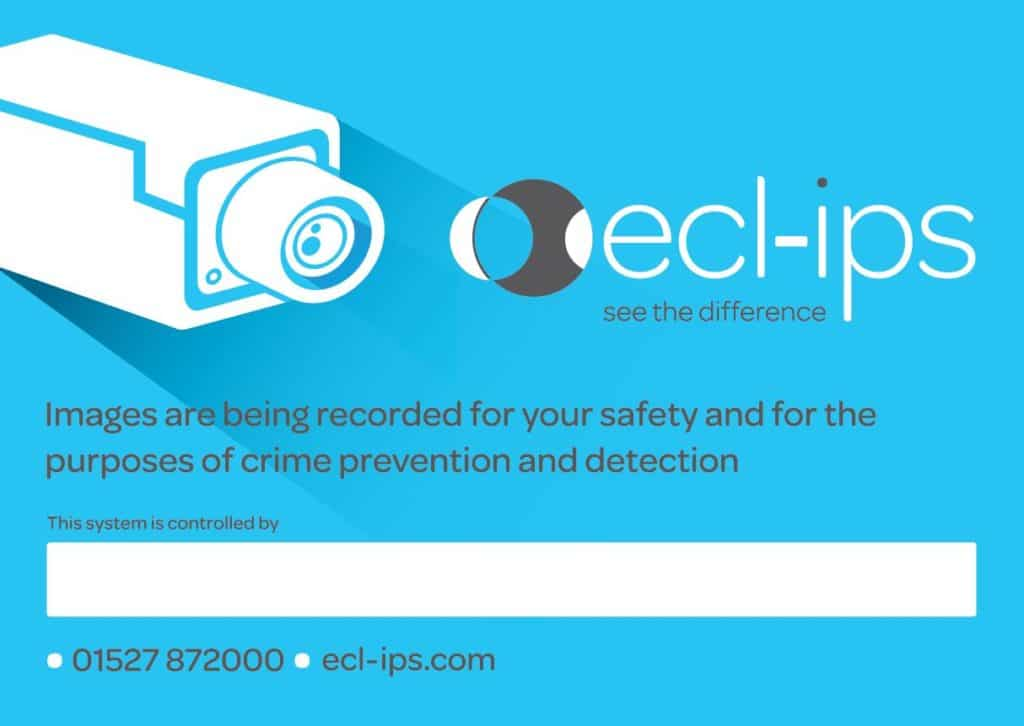 Ecl-ips CCTV Warning Sign