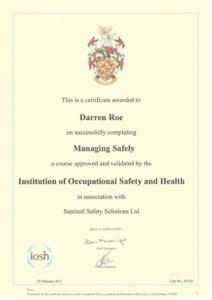 Darren Roe Managing Safely