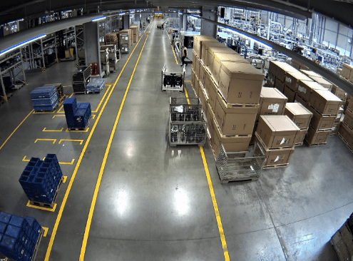 View of a Forklift Area