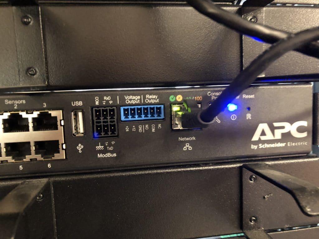 Netbotz 250 monitoring
