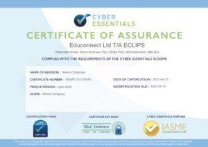Cyber Essentials 2021