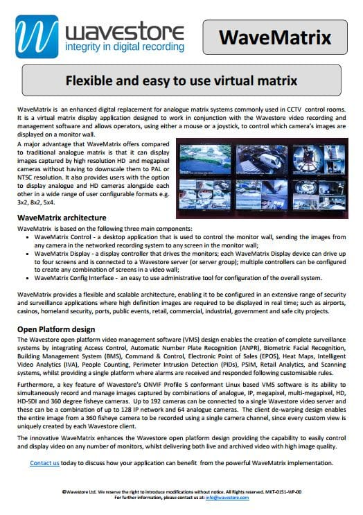 Introduction to WaveMatrix
