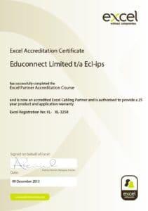 Excel Partner Certificate